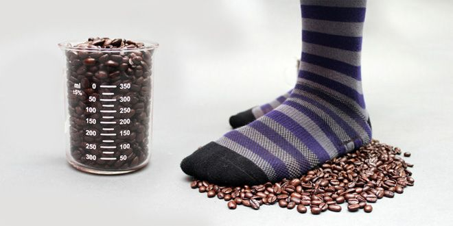 These Coffee Infused Socks Make Your Stinky Feet Smell Good