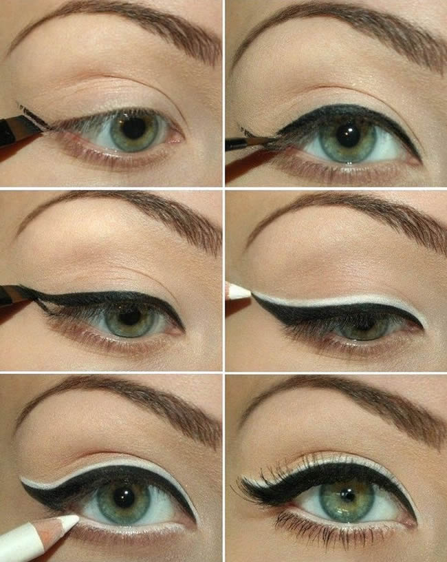 How-to-apply-black-and-white-eyeliner