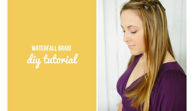 DIY Hair Tutorial: WATERFALL BRAID