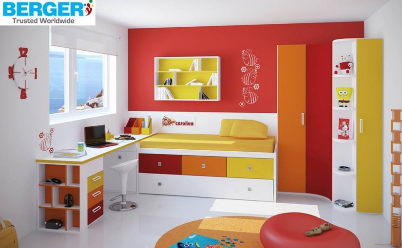 Try Bright Colors For Kids Bed Room