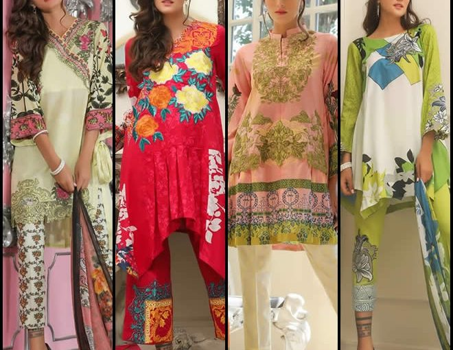 House Of Ittehad Lawn Dresses Collection 2018